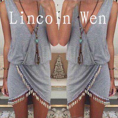 S-XL New Summer style women's V-neck sleeveless dress Vintage lace dress irregular sexy bohe beach dress 4colors #ZX01(China (Mainland))