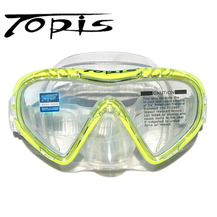 New Arrival Children Silicone Diving Mask Tempered Glass Lens Kids Swimming scuba diving equipment swimming Masks(China (Mainland))