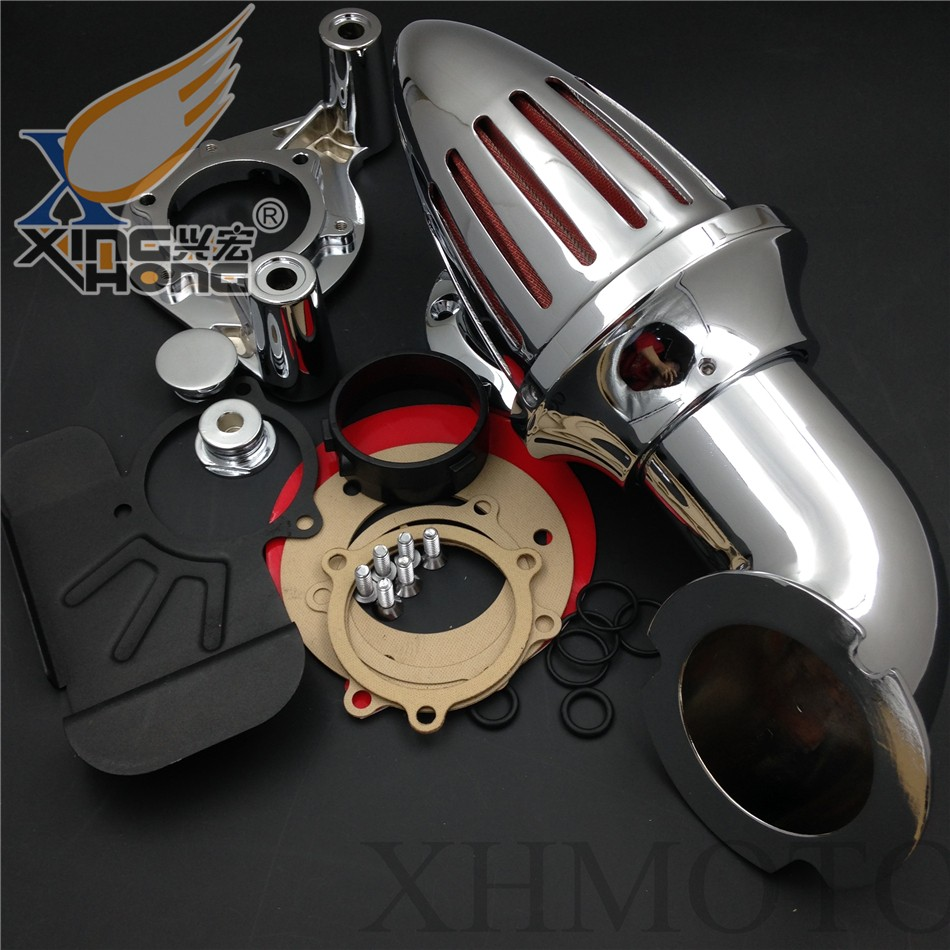 Aftermarket free shipping motorcycle parts Harley Dyna Electra Glide FLHX Road King  Air Cleaner intake for 2008-2012 CHROME