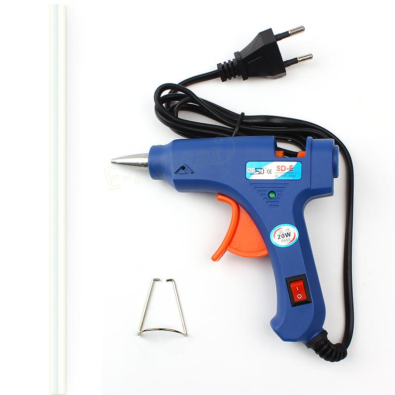 Ремонт автомобилей средства ес штекер пистолетного де кола quente для DIY профессиональный высокая температура нагреватель 20 Вт пистолет с 1 шт. клей карандаш