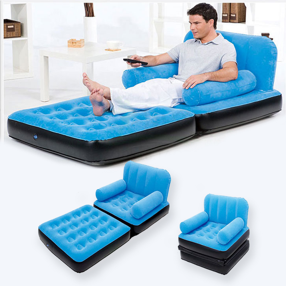 Inflatable pull out sofa couch full single air bed Sleeper sofa mattress