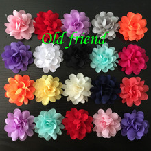 New Sytle 2″ Chiffon Flowers For Headbands Dress Clothing 60/lot 14 color  Free Shipping