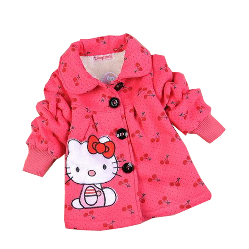 Retail 1 pcs children spring winter jackets girls cotton velvet Cute rabbit coat baby outerwear CCC236(China (Mainland))