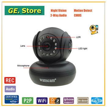 Freeshipping Mini JW0004 P2P Cheap Wirelss Camera Wifi CCTV Camera Home Security IP Cam Wirelss IR Webcam