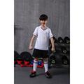 boy training short sleeve soccer jerseys breathable running sets sportswear football team kits girls children sets