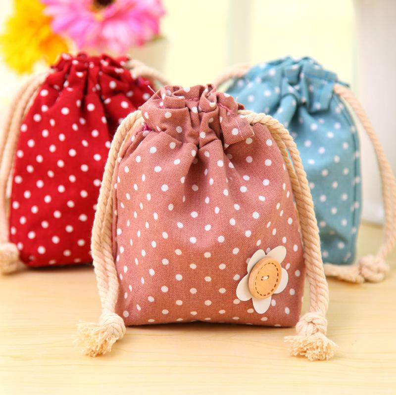 2015 Cotton and linen cloth art little smoke pull beam receive bag Sundry travel arrangement portable Toy Organizer Vacuum Bag(China (Mainland))