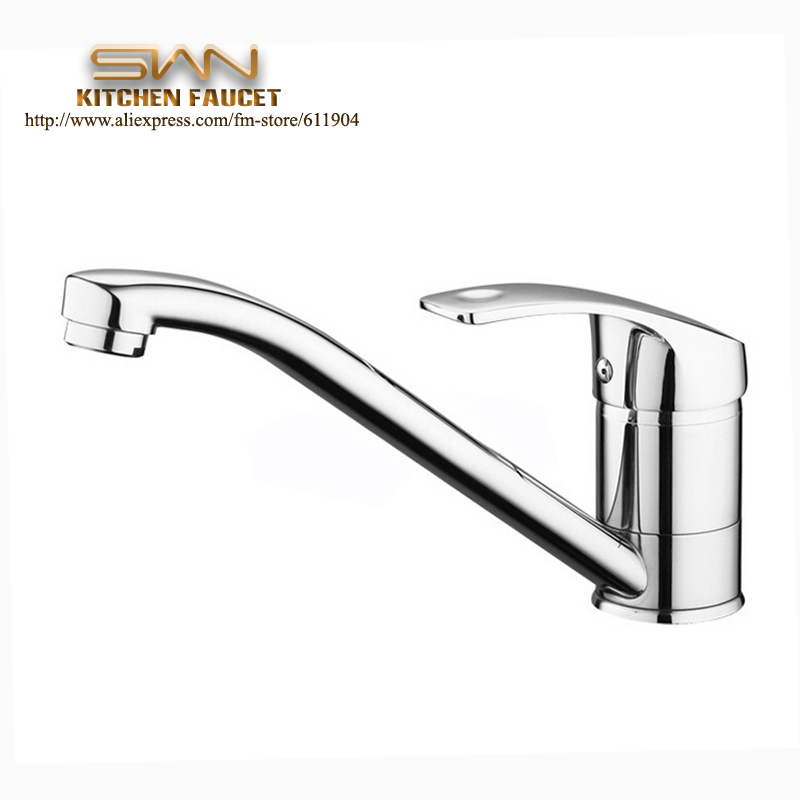 Wholesale Chrome Brass Kitchen Faucet Basin Sink Hot And