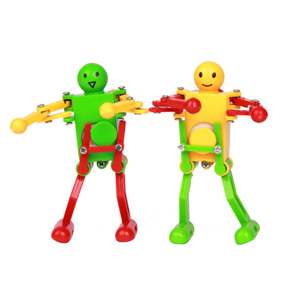 Toys For 2 And Up : Yellow green red wind up dancing robot for children kids