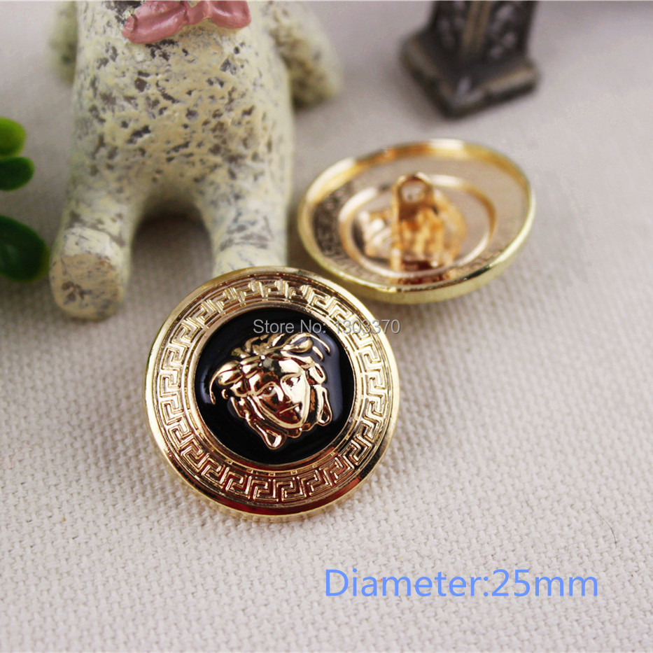 Гаджет  free shipping 10pcs,metal button in Gold&Black Color,World famous classic brand buttons, garment accessories DIY materials,VC009 None Дом и Сад