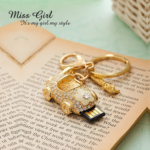 Miss girl 4g roadster car crystal usb flash drive