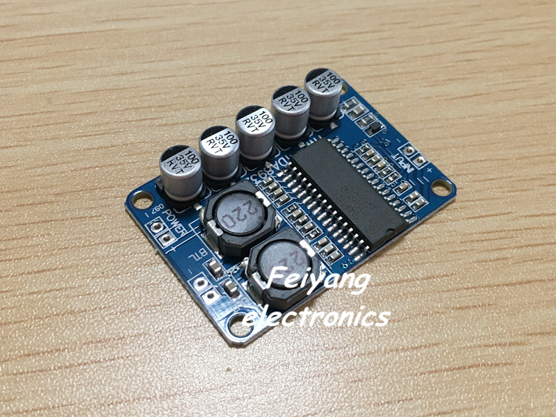 ! 1 Digital power amplifier board module 35w mono High-power TDA8932 low consumption - Feiyang electronics store