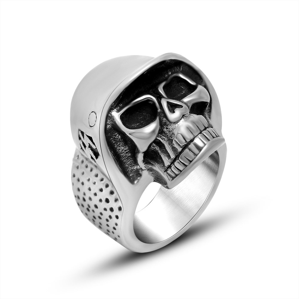 American Jewelry personality handsome men Pirate Skull Ring punk jewelry manufacturers SA818 316L stainless steel(China (Mainland))