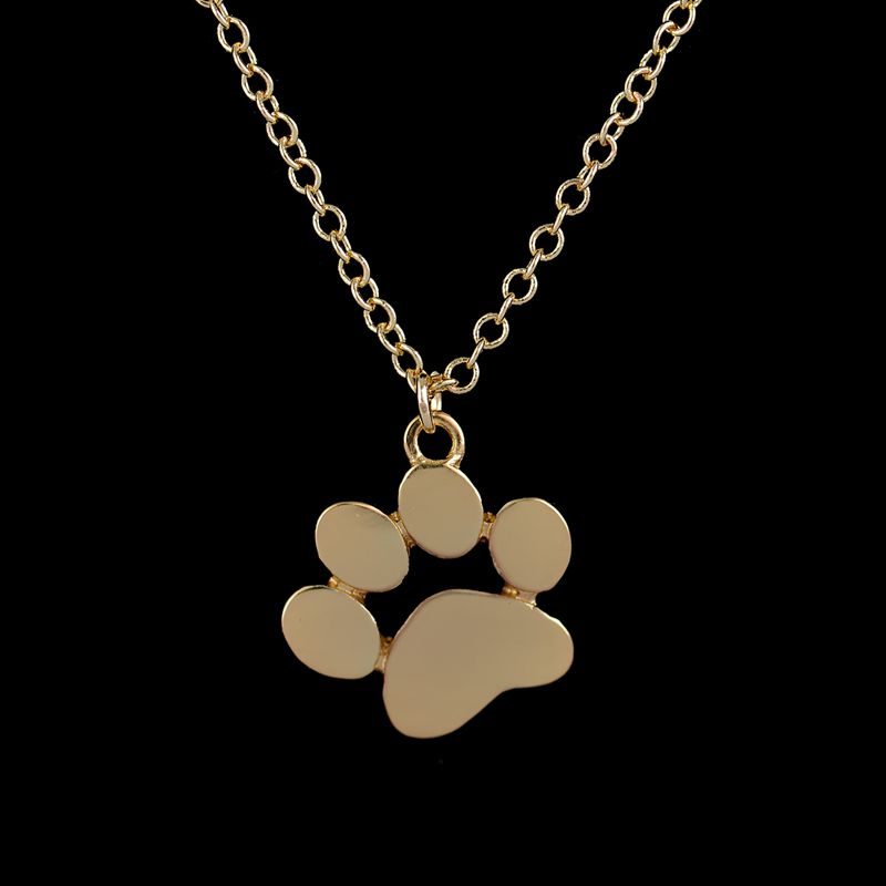 30pcs/lot 2016 New Arrival Necklace Wholesale Tassut Cat Dog Paw Print Pendant Necklace for Women in Gold XL191(China (Mainland))