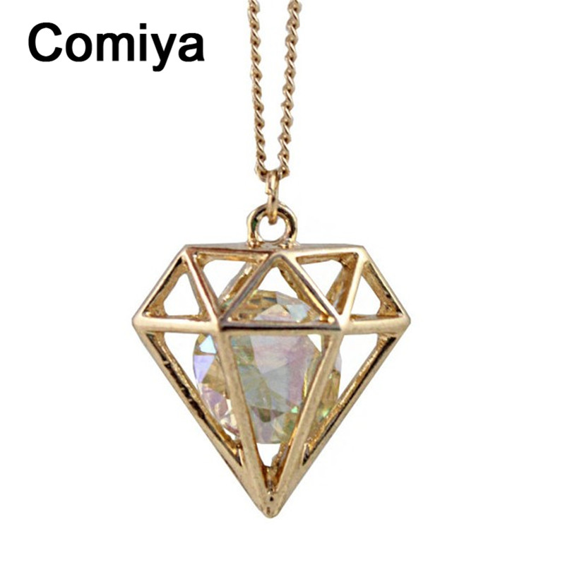 Comiya fashion designed imitation diamond pendant necklace vintage necklaces women crystal decoration sailor moon accessories(China (Mainland))