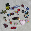 1pcs sell fashion logo patch hot melt adhesive applique embroidery patch DIY clothing accessories patch C2043