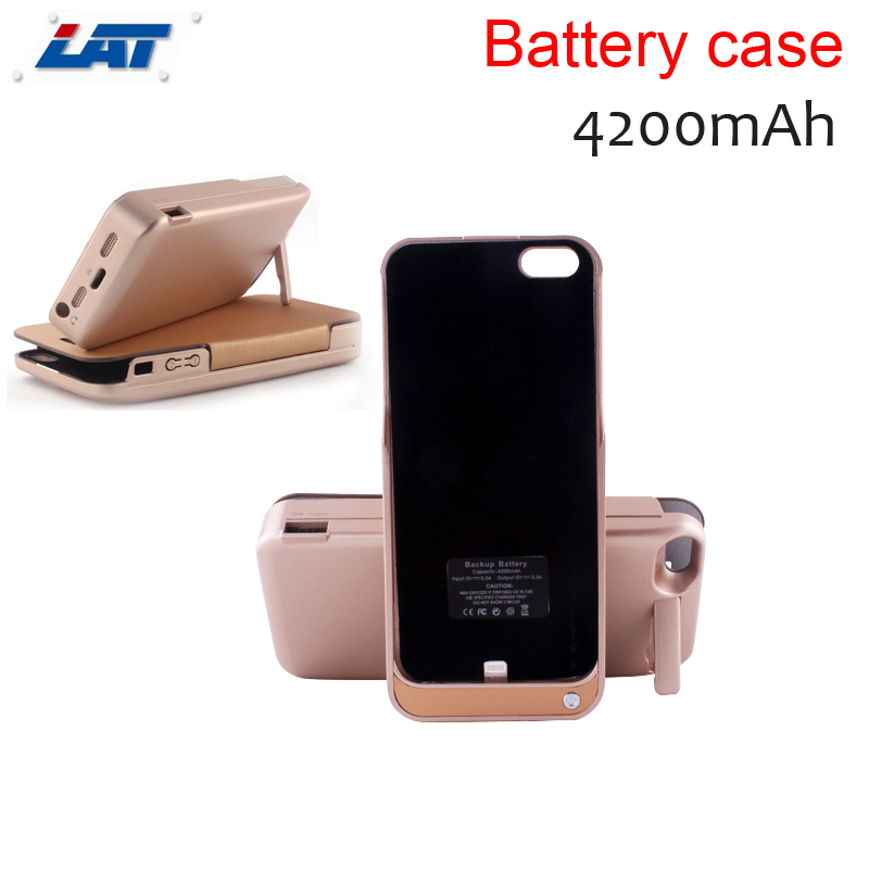 4200mah Rechargeable External Backup Battery Case Power Bank Case Cover for iPhone 5 5s Mobile Phone Charger Case (no flip case(China (Mainland))