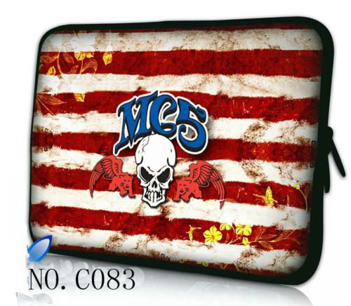 """Flag skull 10"""" 10.1"""" Laptop Sleeve Bag Case Cover for Asus Eee PC 1005 1005HA 1008HA(China (Mainland))"""