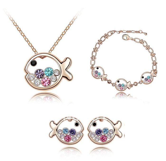 Free Shipping! Mini order is $20, promotion rhinestone jewelry sets with neacklace&earrings&bracelet inexpensive jewelry JS-005