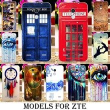Soft TPU Plastic Rushed Cases ZTE Blade V7 Lite A2 V2 lite A510 A610 V6 Max Dreamcatcher Telephone Booth Letters - Blue Mill 3C Products Online Super Market store