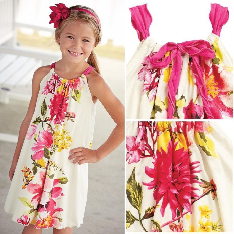 Clearance Sale 2 4Y Girls Floral Summer Dress Cute American Kids Dresses Children Big ...