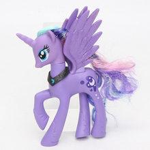 Estilos 14 15 centímetros My Little Pony Rainbow Dash Pinkie Pie Brinquedos Princesa Celestia Luna Ação PVC Figuras Crepúsculo Unicórnio modelo Bonecas(China)