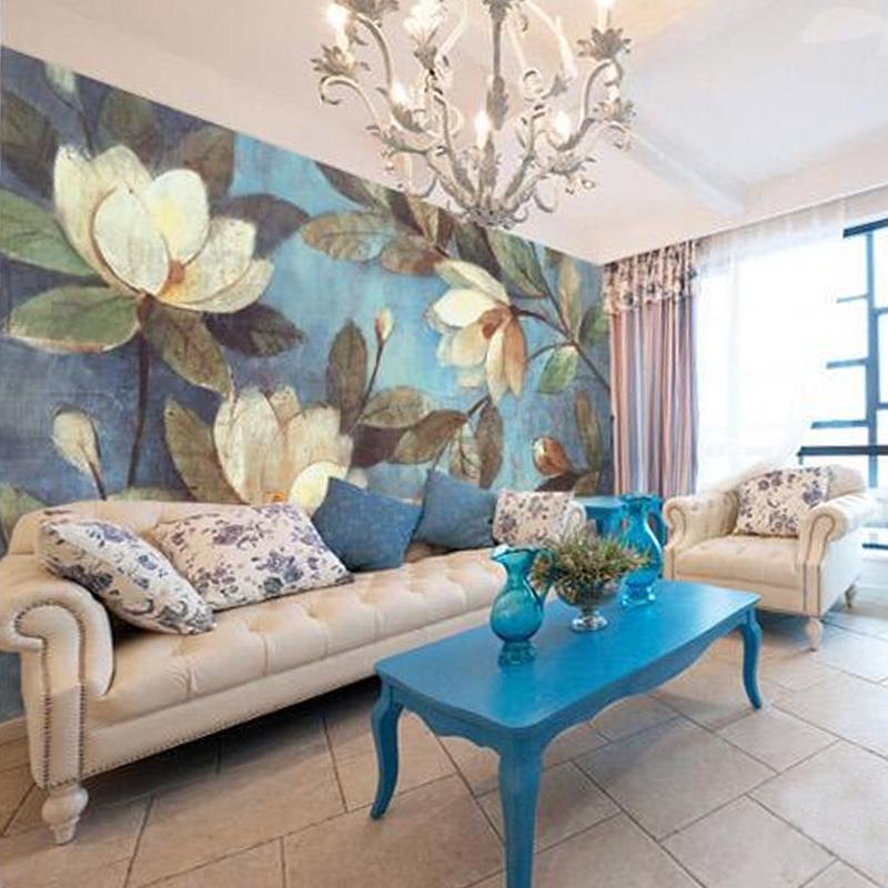 Perfect pittura a olio europea il soggiorno carta da parati retr parete with pitture per camere - Pittura per camera da letto classica ...