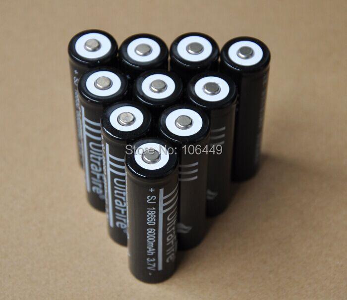Аккумулятор 10%OFF10pcs/lot Ultrafire 6000MAH 3.7V 18650 li/ion Led ICR18650