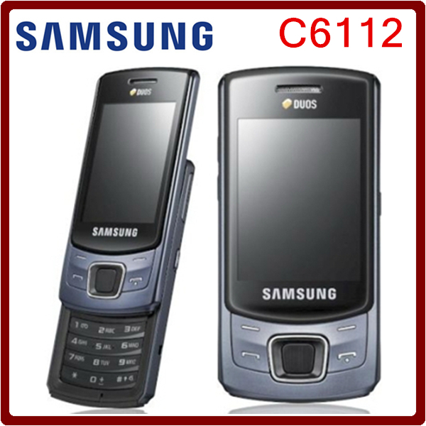 C6112 Original Unlocked Samsung C6112 Dual SIM Cards Support Russian Keyboard Refurbished Mobile Phone Free Shipping(China (Mainland))