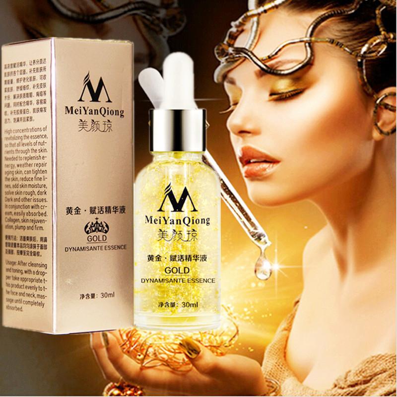 Skin Care Pure 24K Gold Essence Day Cream Anti Wrinkle Face Care Anti Aging Collagen Whitening Moisturizing Hyaluronic Acid(China (Mainland))