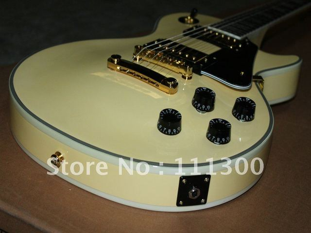 hot selling Custom Shop Electric Guitar Cream Ebony fingerboard Musical Instruments