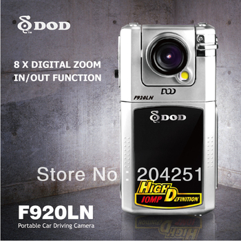 100% Original DOD F920N Car DVR , Car black box + H.264 video resolution + 2.5 inch screen cheap model support Russian