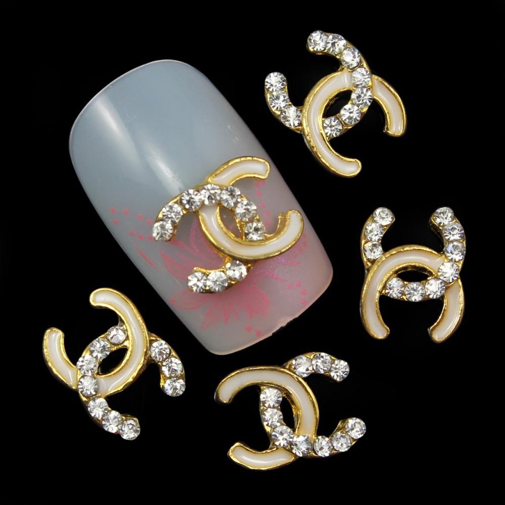 10pc Perfume Rhinestone 3d Nail Art Decorations,Alloy Nail Sticker ...