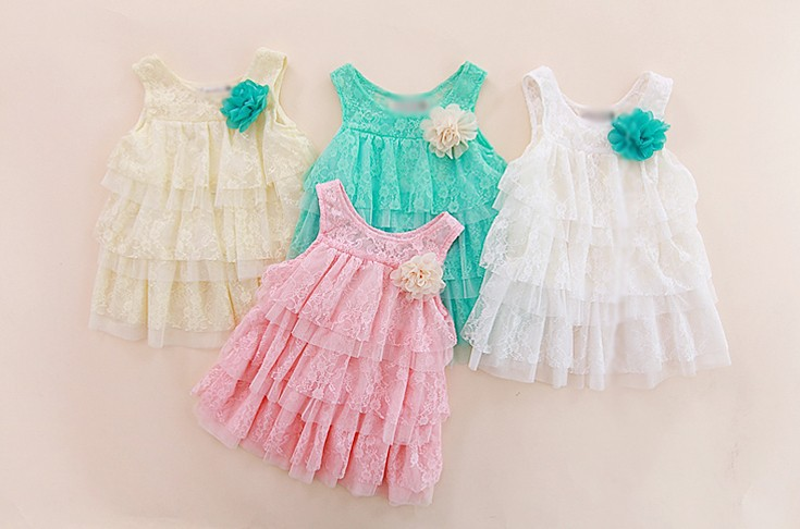 Baby Girls Lace Dresses Princess Children Clothing For Autumn -Summer Kids Flower Tutu Dress 4 Colors 2014 Freeshipping <br><br>Aliexpress