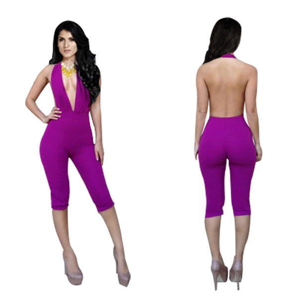 Cool Womens 2014 Celebrity Bodycon Jumpsuit KM001 Ladies Sexy Party Bandage