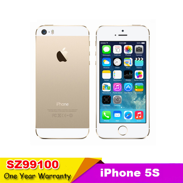 Apple Iphone 5S Phone Original Unlocked 5S iOS 4.0 inches Touch Screen GPG 8MP Camera 1GB RAM 16GB ROM Touch ID Fingerprint(China (Mainland))