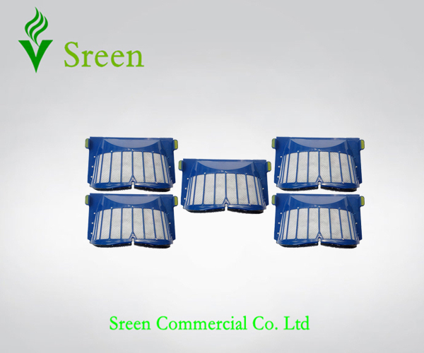 Free Shipping 5 x AeroVac Filter of Vacuum Cleaning Parts for iRobot Roomba 600 Series 595 620 630 650 660(China (Mainland))
