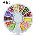 Nail Art Decoration Fruit Slices 3d Polymer Clay Tiny Fimo Design Wheel Nail Rhinestone Acrylic Manicure
