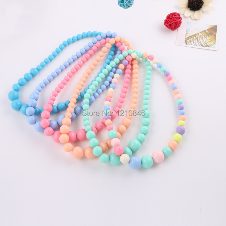 new colors pearl necklaces baby handmade