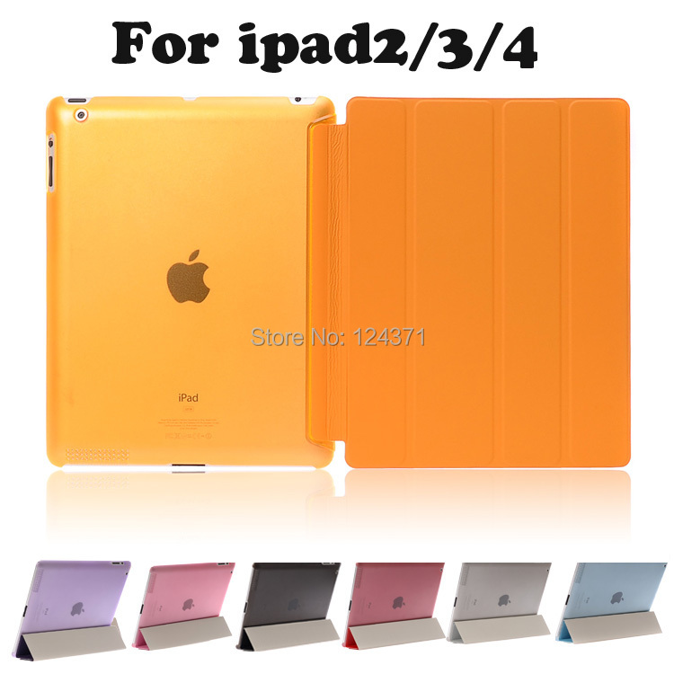 For apple ipad 2 3 4 Case Magnetic Flip Leather case For new ipad3 ipad4 PU Smart Stand Holder Cover<br><br>Aliexpress