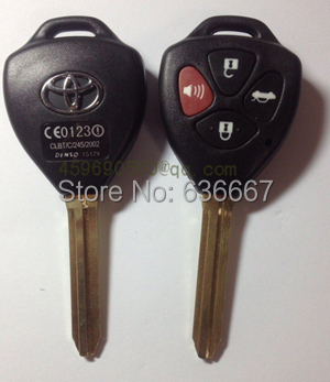 KL37 Toyota Camry Remote Key Shell 4 Buttons Toy43 key blade car key blank(China (Mainland))