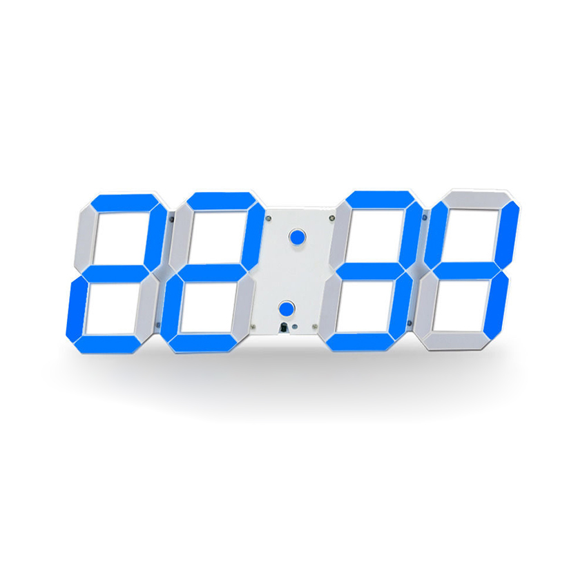 Large Led Digital Wall Clock Modern Design Show 16 group Alarms Temperature Date Countdown Wall Watch In The Living Room(China (Mainland))