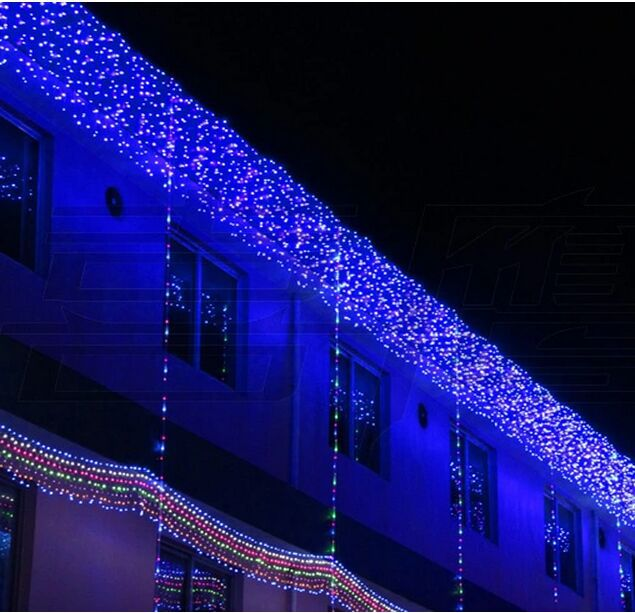 New Holiday hotel LED lights 6m*1m lights flashing lane LED String lamps curtain icicle Christmas home garden festival lights(China (Mainland))
