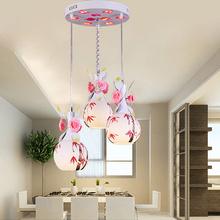 Modern glass chandelier light 3heads led chandelier light romantic with 3pcs 5W E27(China (Mainland))