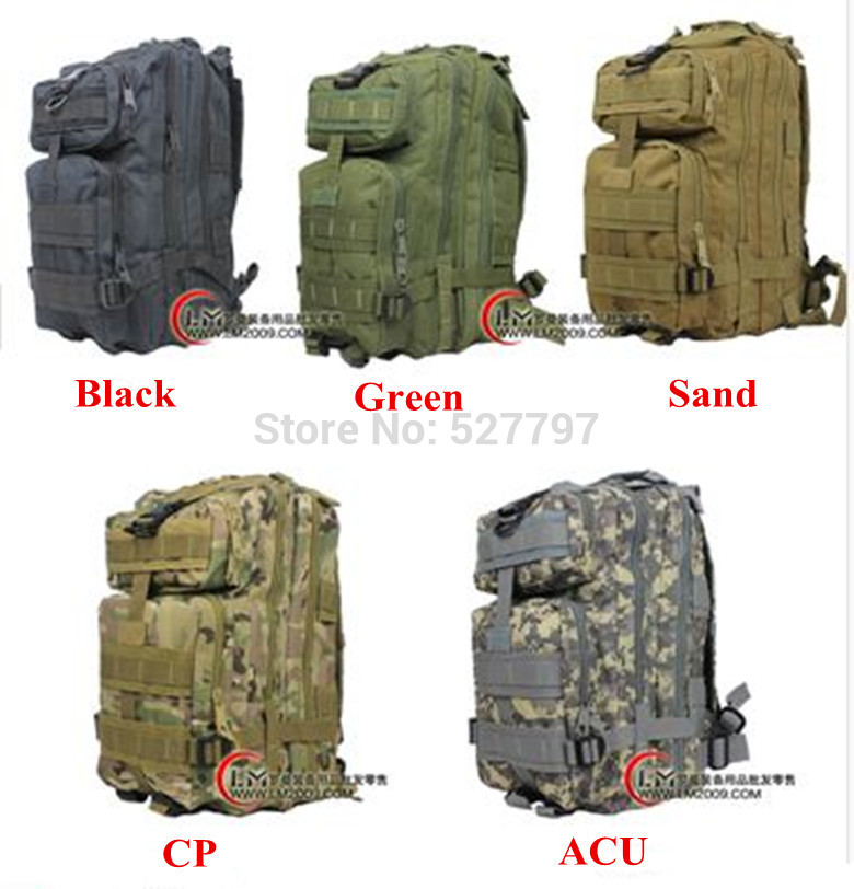 camping bags ,waterproof Molle backpack military 3P Tactical Backpack assault travel bag men cordura 30L - Outdoor's Equipment store