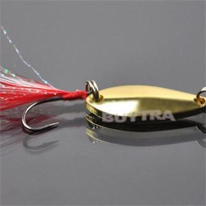 Good Quality New Artificial Fishing Lure Bait Treble Feather Sequined Fish Hook Baits Swimbait Fishing Lures Silver Gold(China (Mainland))