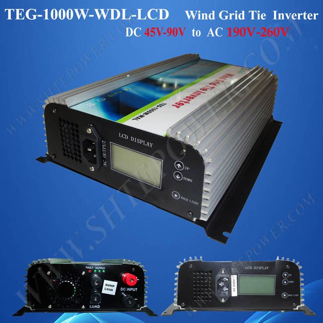 1kw wind turbine 1000w grid tie inverter dc to ac 220v grid tie inverter(China (Mainland))
