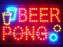 led015-r Beer Pong Bar Pub LED Neon Business Light Sign Wholesale Dropshipping(China (Mainland))