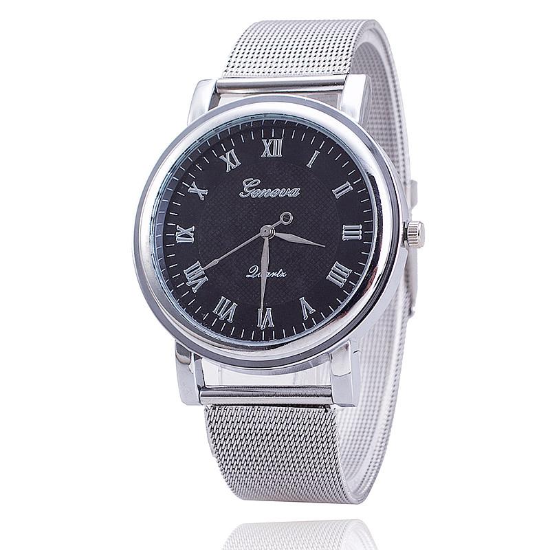 Гаджет  2 Colors New Fashion Women Silver Watches Ladies Geneva Quartz  Watches None Ювелирные изделия и часы