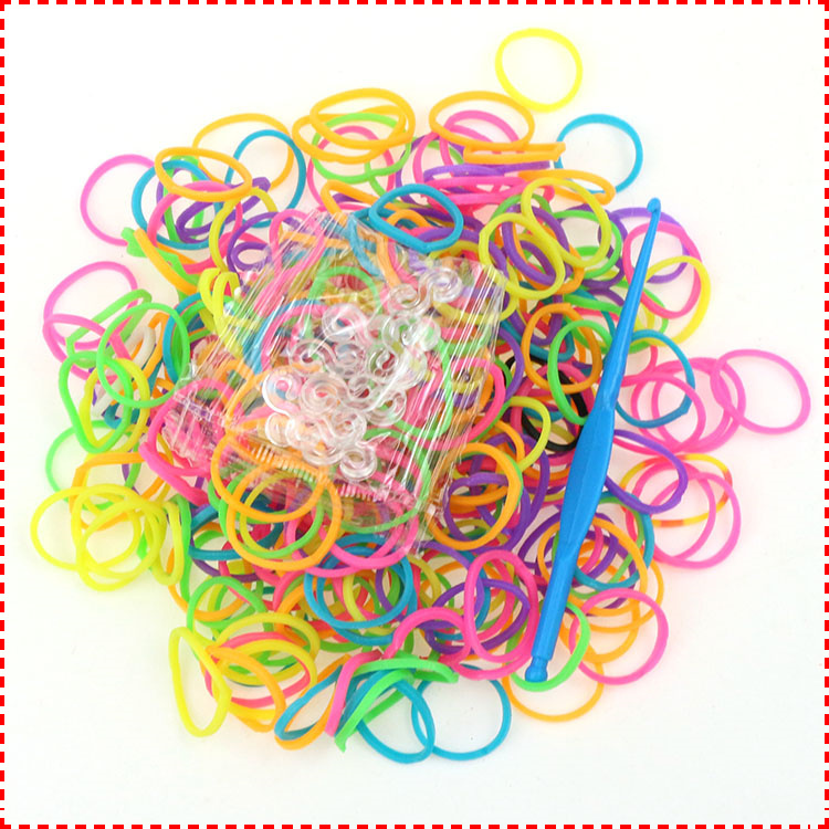 Cheap Sale 1 pack (600pcs Bands) Colorful Loom Bands Refill For Make Rubber Bands Bracelets Gum For Bracelets(China (Mainland))