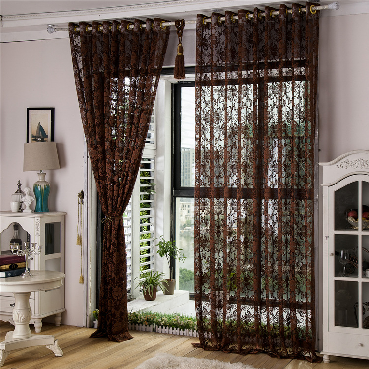 tulle window curtains for living room bedroom blackout curtains